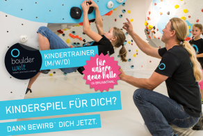 Die Boulderwelt München Süd sucht Kindertrainer