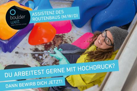 Die Boulderwelt München West sucht eine Assistenz des Routenbaus