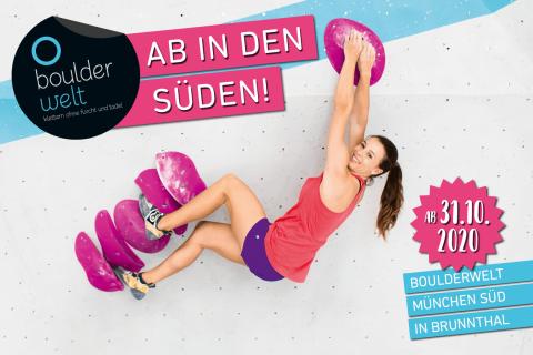 Neueröffnung der Boulderwelt München Süd in Brunnthal am 31.10.20