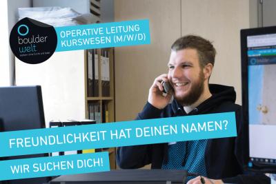 Boulderwelt München Süd sucht Operative Leitung Kurswesen