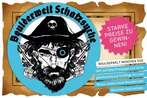 Gewinne eine Jahreskarte bei der Boulderwelt Schatzsuche in der Boulderwelt München Süd