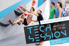 Besser bouldern mit der Boulderwelt Crew bei der Tech Session am 27.11.21 in der Boulderwelt München West